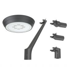 Artera LED design straatverlichting 6650Lm 49W 2700K antraciet lens O7 dali