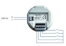 Casambi SC-TI-CAS drukknop interface voor inbouwdoos