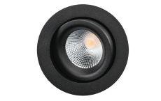 Junistar Lux downlight verstelbaar 470Lm 2700K 98Ra draadveer zwart