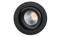 Junistar Lux downlight verstelbaar 490Lm 3000K 98Ra dali draadveer zwart