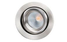Junistar Lux downlight verstelbaar 520Lm 3000K 98Ra draadveer geborsteld staal