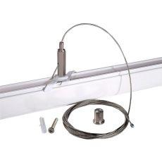 Pendelset voorzien van 5 meter staalkabel t.b.v. PowerGear 3-fase railsysteem wit