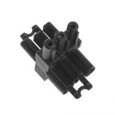 T-splitter 3-polig zwart