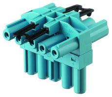 T-splitter 5-polig pastelblauw