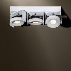 Wodan 3 beaufort verstelbaar opbouw armatuur 3x1500Lm 2700K 70° wit-zwart
