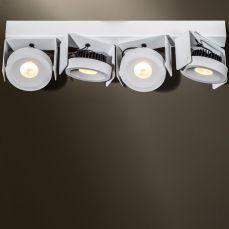 Wodan 4 beaufort verstelbaar opbouw armatuur 4x1500Lm 2700K 70° wit