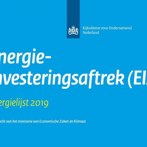 Energie-investeringsaftrek (EIA) 2019