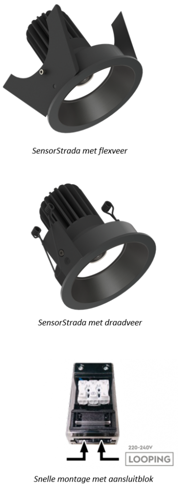 Nieuw - SensorStrada downlight met PIR sensor